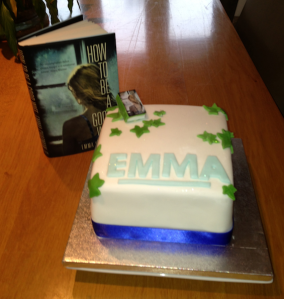 The finished product and a celebratory cake, given by a friend's mum