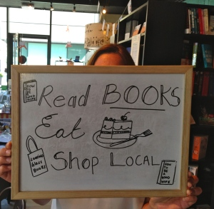 148 - SIGN AT LOOKING GLASS BOOKS, EDINBURGH