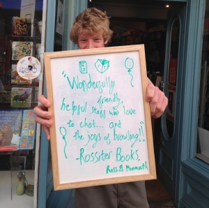 70 - SIGN AT ROSSITER BOOKS, MONMOUTH